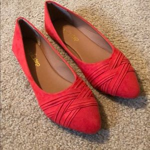 Shoes - Red flats sz 8 Never Worn